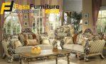 Desain Set Kursi Tamu Sofa Royal Ukiran Klasik