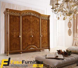 Lemari Pakaian 4 Pintu Model Ukiran Klasik