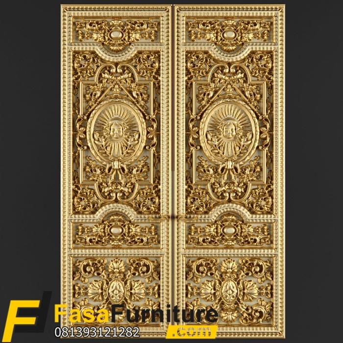 Pintu Kupu Tarung Model Klasik Royal Ukiran