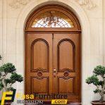 Pintu Utama Kayu Jati Klasik
