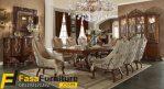 Set Meja Makan Mewah Royal Klasik