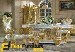 Set Meja Makan Royal Klasik Ukiran