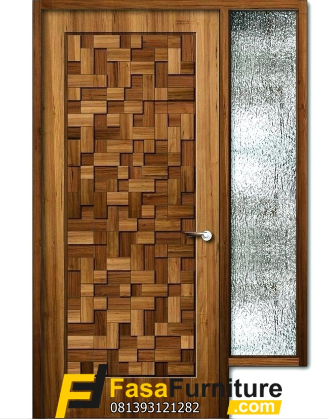 Model Daun Pintu Anyaman Bambu Elegan