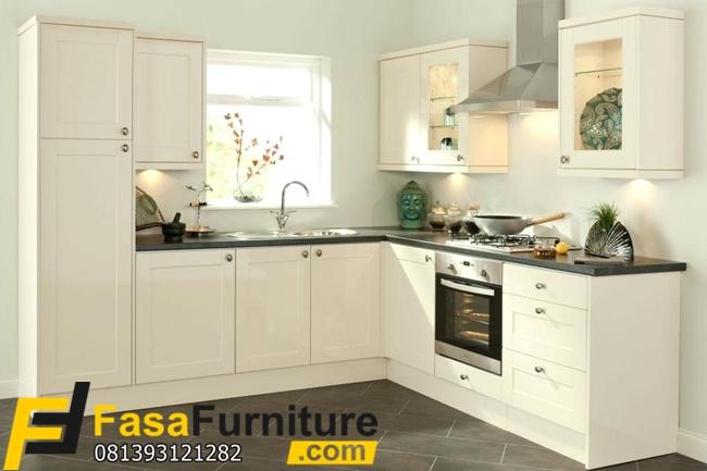Model Kitchen Set Putih Sudut L Fasa Furniture Jepara Fasa