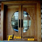 Pintu Kupu Tarung Kayu Jati Modern