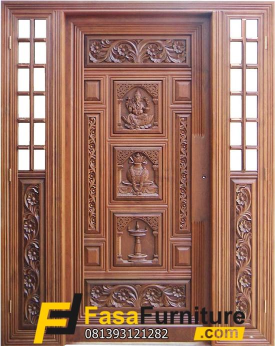 Kusen Pintu Depan Model Ukiran