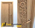 Pintu Kamar Model Ukiran Bunga Dahlia