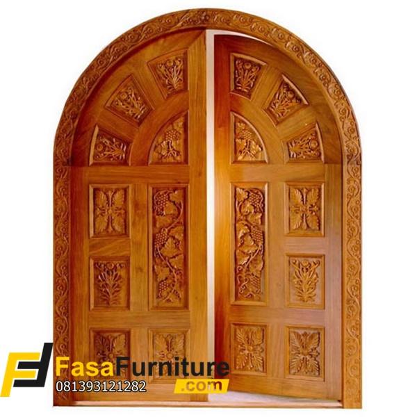 Pintu Kupu Tarung Model Lengkung Kayu Jati