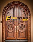 Pintu Utama Klasik Kayu Jati FF-323