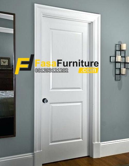 Harga Kusen Pintu Kamar Minimalis Putih