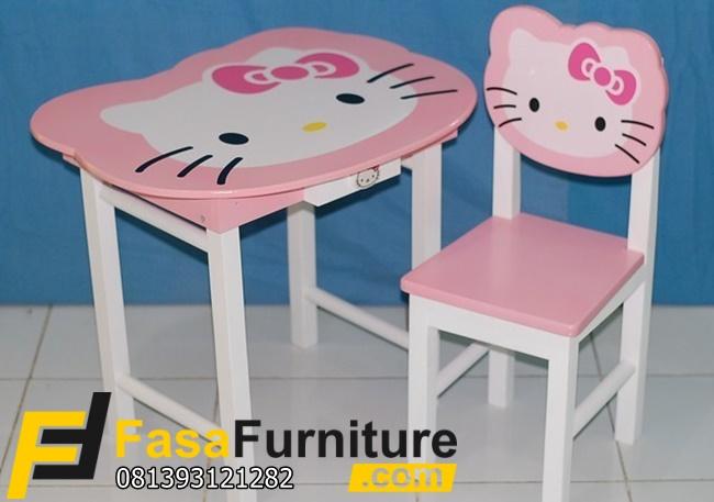 Model Meja Belajar Anak Paud Hello Kitty