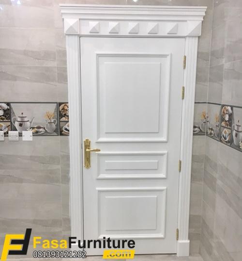 Pintu Kamar Mawar Putih Elegan FF-353