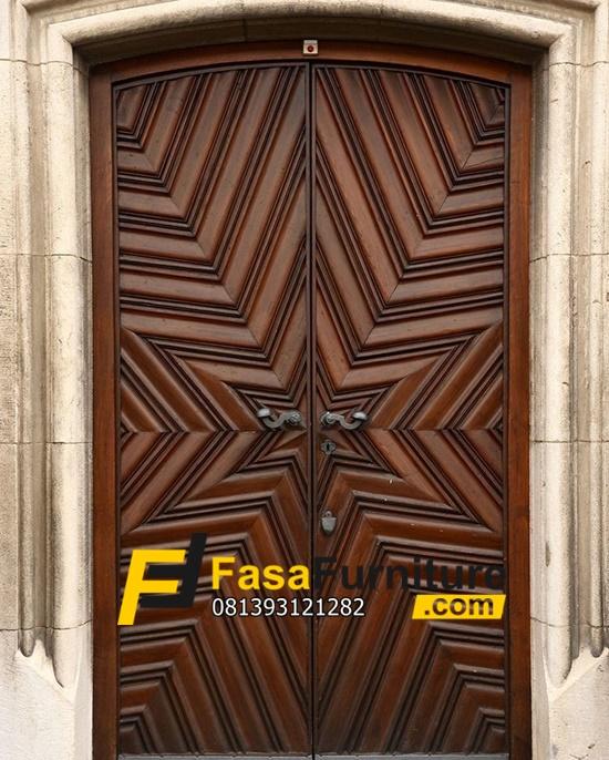 Pintu Rumah Minimalis Motif Bintang