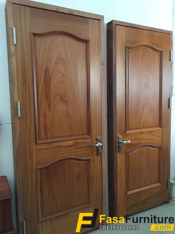 Desain Pintu Kamar Minimalis Asli Kayu Jati Tpk FF-361