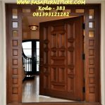 Harga Pintu Rumah Single Minimalis Kayu Jati Tpk
