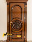 Pintu Kamar Minimalis Ukiran Tengah Timbul Klasik