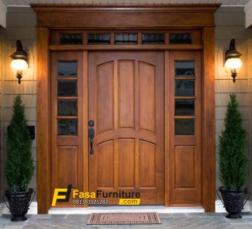 Pintu Rumah Minimalis Kayu Jati Tpk