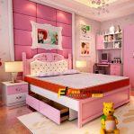 Set Tempat Tidur Anak Mama Model Sorong Minimalis FF-364