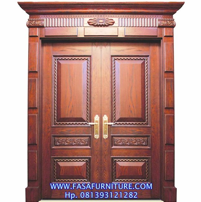 Desain Pintu Rumah Klasik Model Kupu Tarung Jati