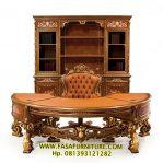 Set Meja Kantor Ukiran Sufana Klasik Eropa