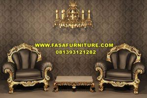 Kursi Sofa Ukiran Gold Elegan