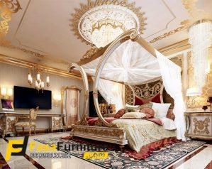 Set Kamar Tidur Kanopi Ukir Model Itali
