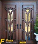 Pintu Rumah Minimalis Kupu Tarung Ram Kaca