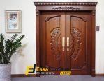 Pintu Ukir Kayu Jati Model Kupu Tarung Klasik Eropa