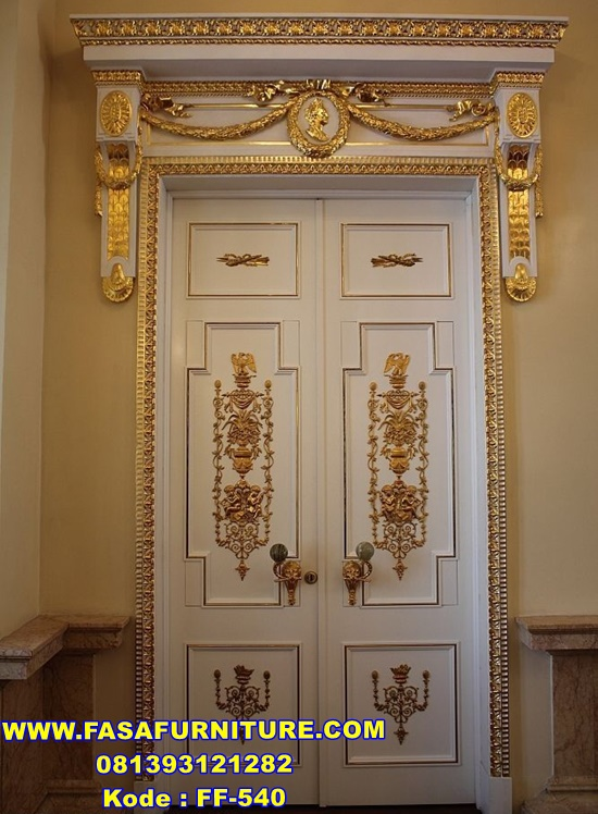 Set Pintu Rumah Mewah Kupu Tarung Ukir