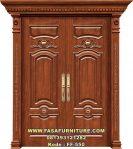 Pintu Rumah Kayu Jati Model Klasik FF-550