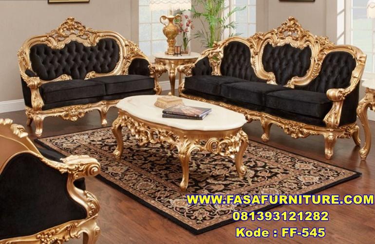 Set Sofa Tamu Ukir Klasik Eropa