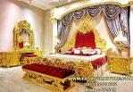 Tempat Tidur Mewah Gold Ukiran Cantik