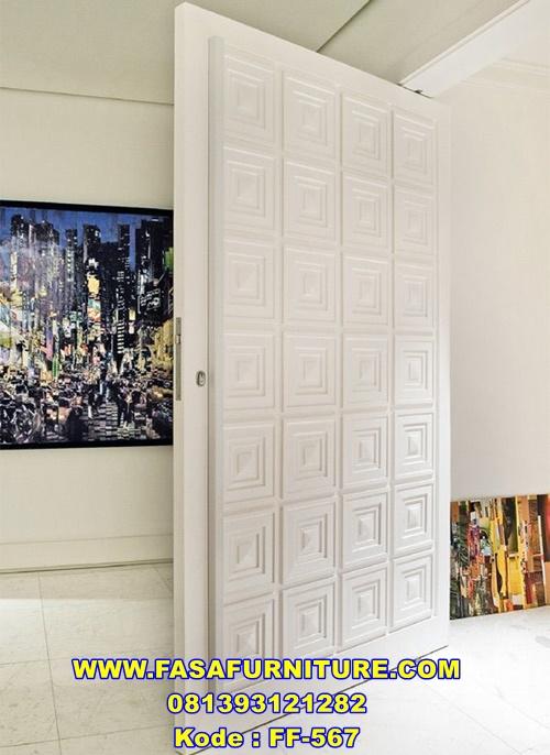 Desain Pintu Utama Klasik Minimalis Kotak