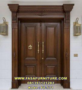 Model Pintu Utama Minimalis Jati