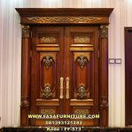 Pintu Rumah Jati Model Kupu Tarung