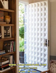Pintu Rumah Minimalis Motif Kotak Single