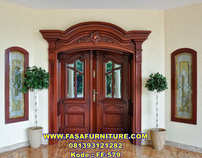 Pintu Rumah Model Lengkung Mewah