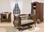Set Tempat Tidur Bayi Minimalis Kayu Jati