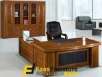 Set Meja Kantor Bos Dermawan Minimalis Jati