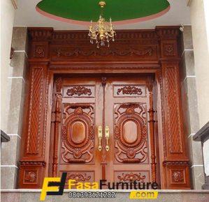 Jual Pintu Double Ukiran Rumah Orang Kaya