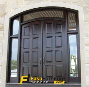 Kusen Pintu Utama Minimalis Jendela Kaca