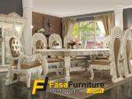 Model Meja Makan Klasik Rumah Mewah 7 Kursi