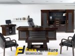 Set Meja Kantor Direktur Utama Minimalis