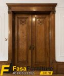 Daun Pintu Double Rustic Model Klasik Jati Tua