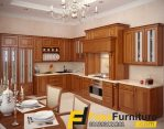 Kitchen Set Kayu Jati Minimalis Model Sudut