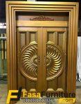 Pintu Double Klasik Minimalis Gold Mewah