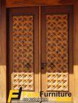 Pintu Double Ukir Kepang Jawa Klasik Minimalis