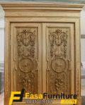 Pintu Kayu Jati Double Model Klasik