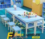 Set Meja Belajar Paud Dan TK 8 Kursi