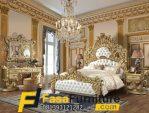 Model Tempat Tidur Klasik Ukiran Gold FF-691